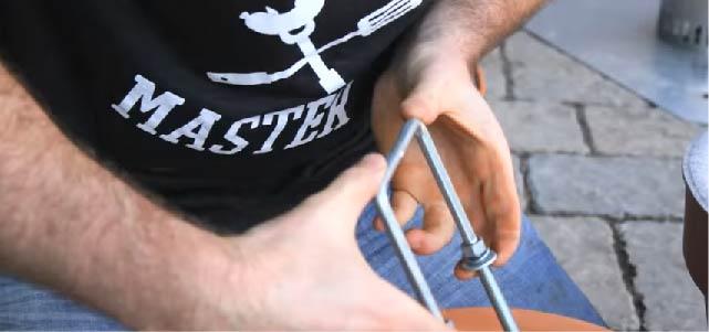 zelf een rookoven bouwen - ijzerwaren
